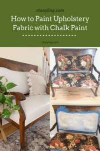 How to Paint Upholstery Fabric with Chalk Paint