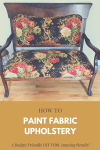 Paint Fabric Upholstery