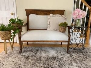 Painting Upholstery Fabric with Chalk Paint