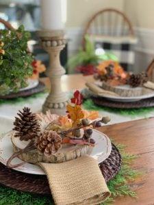 Rustic Fall Tablescape Idea