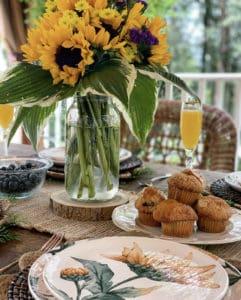 Sunflower Brunch Table Setting Idea