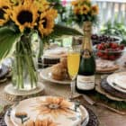 Sunflower Brunch Table Setting Idea