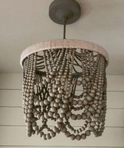 Beaded Chandelier in the Laundry Room
