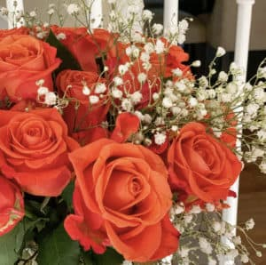How to dry flowers with orange roses